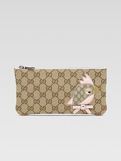 $295 This collectio is sooo Cute... Gucci Kid's Zoo Pouch