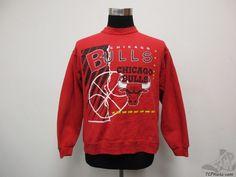 Vtg 90s Hanes Chicago Bulls Crewneck Sweatshirt sz S Small Basketball Jordan #Hanes #ChicagoBulls #tcpkickz