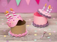 Birthday Cake Gift, Gift Cake, Birthday Crafts, Gift Box Cakes, Diy Gift Box, Diy Gifts, Paper Gift Box, Best Gifts, Diy For Kids