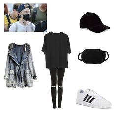 """""""Suga♡"""" by softkitten3 on Polyvore featuring Topshop, adidas and Le Amonie"""