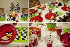 angry birds go party - table
