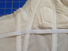 Sewing Through Life: Boning the Bodice and Beyond. Adding boning and underbust stay.