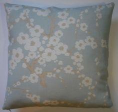 """Laura Ashley 18"""" Cushion Cover - Lori Duck Egg Blue"""