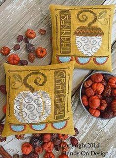 Hands On Design - Twice Blessed - Thankful & Grateful - Cross Stitch Pattern