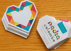heart_card // Yo quiero mi tarjeta de presentación así <3