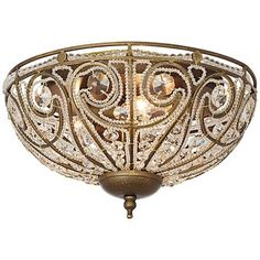 "Elizabethan Collection Dark Bronze 13"" Wide Ceiling Light"