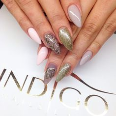 by Ania Leśniewska New Items at www.indigo-nails.com #nails #nailart #bling Follow us on pinterest for more inspiration