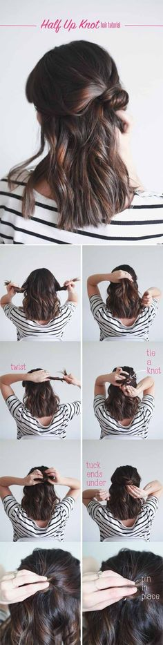 Best Hairstyles For Your 20s -Half Up Knot in 4 Easy Steps- Hair Dos And Don'ts For Your 20s, With The Best Haircuts For Women In Their 20s, Including Short Hairstyle Ideas, Flattering Haircuts For Medium Length Hair, And Tips And Tricks For Taming Long Hair In Your 20s. Low Maintenance Hair Styles And Looks For A 20 Year Old Woman. . Hairstyles For 25 Year Old Woman. Simple Step By Step Tutorials And Tips For Hair Styles You Can Use To Look Beautiful At Any Event. Hair styles For Curly Hair…