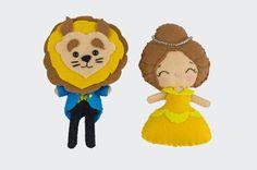 La Bella y la Bestia. Boches en fieltro de lana. Tweety, Fallout Vault, Fictional Characters, Art, Felted Wool, Beauty And The Beast, Craft Art, Kunst, Gcse Art