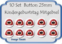 10 Set Button Käfer Mitgebsel Kindergeburtstag von Jasuki auf DaWanda.com