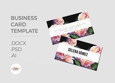 Florals Business Card Template @creativework247