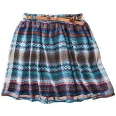 Mossimo Supply Co. Juniors Belted Skirt - Tribal Stripe