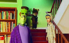 Download wallpapers Happy family, 2017, characters, new 3d movie, We are the monsters