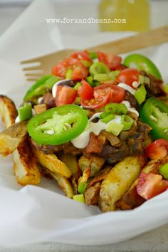 Use gf ingredients! Vegan Chili Fries Recipe - omit the beer and this will work for the Daniel Fast :-)