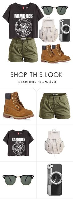"""Explore the World"" by designer004 ❤ liked on Polyvore featuring Timberland, Object Collectors Item, Ray-Ban, Casetify, women's clothing, women, female, woman, misses and juniors"