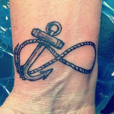Tattoo Brittany Dee did tonight #anchor #infinity #beach #beachytattoos #tattoo…