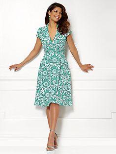 Eva Mendes Collection - Marina Wrap Dress - Print  - New York & Company