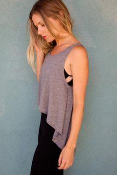 Joah Brown LA Tank in Grey. Available at http://evolvefitwear.com