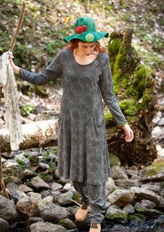 """""""Vilse"""" dress in cotton/modal – Lost in the ancient forest – GUDRUN SJÖDÉN – Webshop, mail order and boutiques 