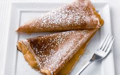 Try these Polish pancakes, filled with sweet cream cheese and sour cherries.