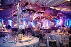 lavender winter wedding..