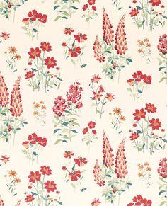 Fernshaw Cranberry Wallpaper by Laura Ashley