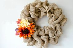 How to Make a Burlap Wreath | DIY Crafts For Fall