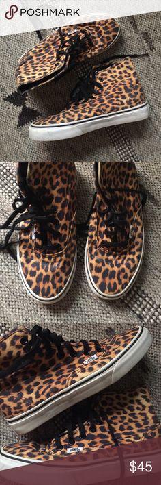 leopard print vans shoes for sale