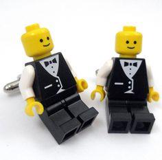LEGO Wedding Tuxedo Smiley Tuxedo Cufflinks products-i-love