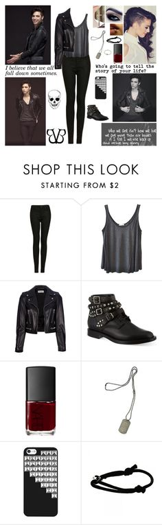 """✘ Andy Biersack Style Steal ✘ Who will remember this last goodbye. 'Cause it's the end and I'm not afraid, I'm not afraid to die. ✘"" by blueknight ❤ liked on Polyvore featuring Topshop, American Vintage, Yves Saint Laurent, NARS Cosmetics, Dsquared2 and Cartier"