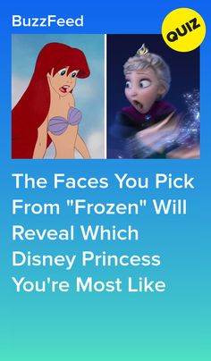 """Pick Your Favorite Faces From """"Frozen"""" And We'll Reveal Which Disney Princess You Are Princess Quizzes, Disney Princess Facts, Disney Facts, Disney Princesses, Quizzes For Kids, Fun Quizzes To Take, Quizzes Funny, Cool Quizzes, Random Quizzes"""