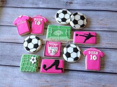 2 dozen a Soccer cookies by NatSweetsCookies on Etsy