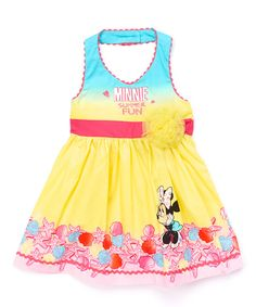 16f65134d72 Look at this Yellow Minnie Mouse Halter Dress - Toddler  amp  Girls on   zulily
