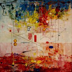"""Saatchi Online Artist Al Razza; Painting, """"Solar Lines"""" #art"""
