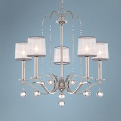 """Quoizel Whitney 28"""" Wide Imperial Silver Chandelier"""