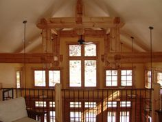 Thompson Honka Log Home Trusses Log Homes, Colorado, Chandelier, Loft, Cabin, Ceiling Lights, Lighting, Home Decor, Timber Homes