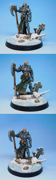 Male Knight With Weapon Assortment - Visions in Fantasy - Miniature Lines | dark sword