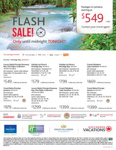 Featured Promotion - Flash Sale! Toronto to Jamaica