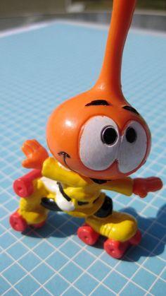 Orange Snork with Roller Skates