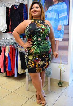 Plus Size Tropicana Bodycon Dress