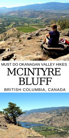 Striking McIntyre Bluff rises above beautiful Vaseux Lake, providing awesome panoramic views of vineyards, orchards and arid lands to those who hike it! Cool Places To Visit, Places To Go, Columbia Outdoor, Canadian Travel, Western Canada, British Columbia, Columbia Travel, Travel Activities, Vacation Spots