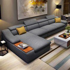 Sofa Set Designs, L Shaped Sofa Designs, Modern Sofa Designs, Modern Design, Sofa Bed Living Room, Living Room Sofa Design, Living Room Sets, Couch Design, Bedroom Sofa