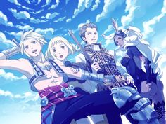 FF12 Art with Fran, Penelo, Vaan and Balthier