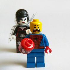 """Spidey-sense tingling"" #marvel #lego #spiderman #series14 #minifigures"