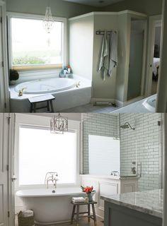 Gorgeous bathroom remodel transformation!