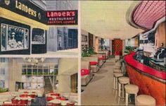 Lander's Chicago 1950  #restaurants #retro #chicago