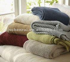 Chenille Knitting Throw