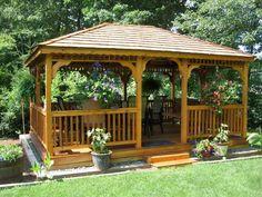 How to Build A Gazebo with Red Cedar Deck