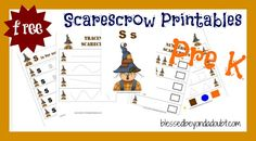 Free Preschool Printables: Scarecrow Set #homeschool