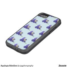 Aquilegia flabellata tough xtreme case for iphone or Samsung Galaxy Aquilegia flabellata, a blue and white flower also known as columbine or granny bonnet. Important: The background color be customized to suit your preferences before placing your order